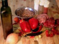 Zutaten für ein Chili
